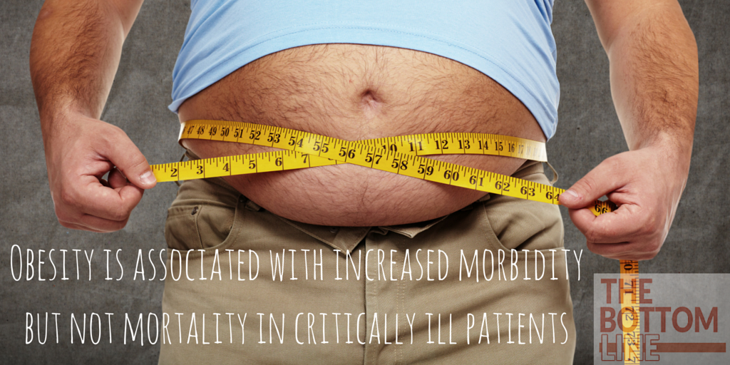 Obesity is associated with increased morbidity but not mortality in critically ill patients